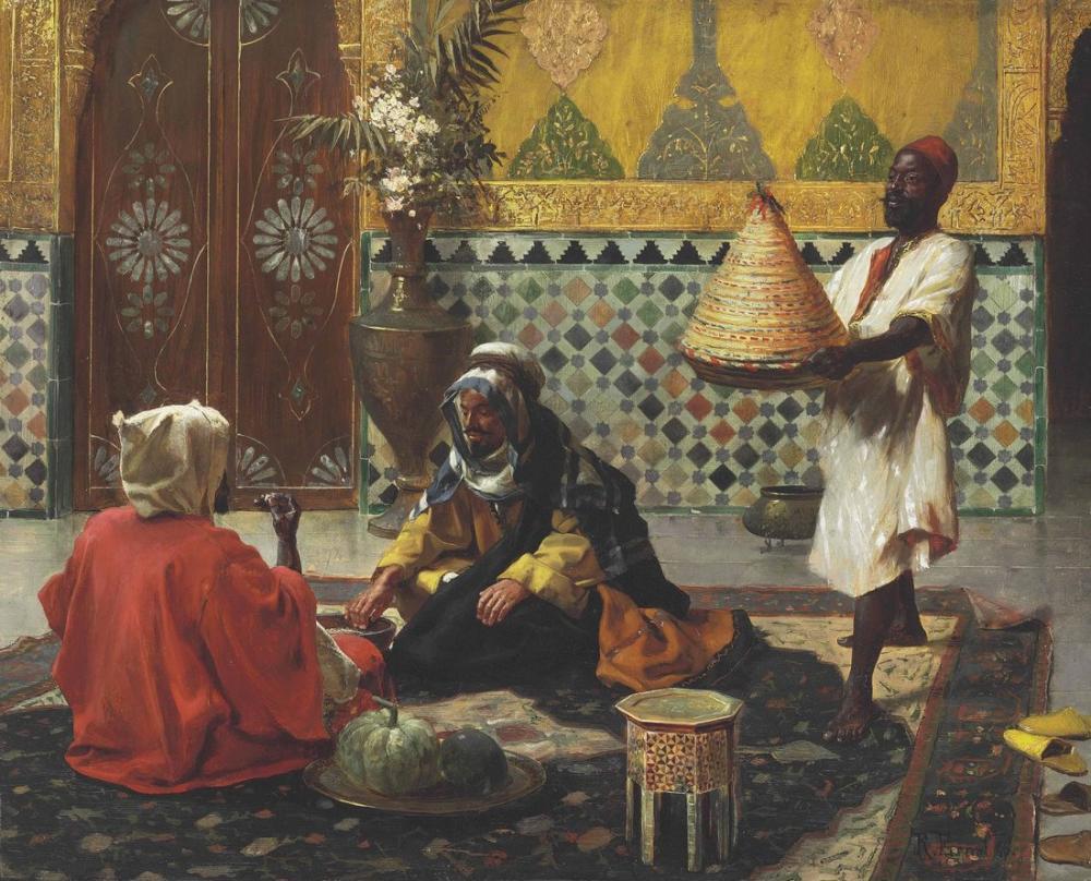 Rudolf Ernst Öğleden Sonra Bir Tartışma, Oryantalizm, Rudolf Ernst, kanvas tablo, canvas print sales