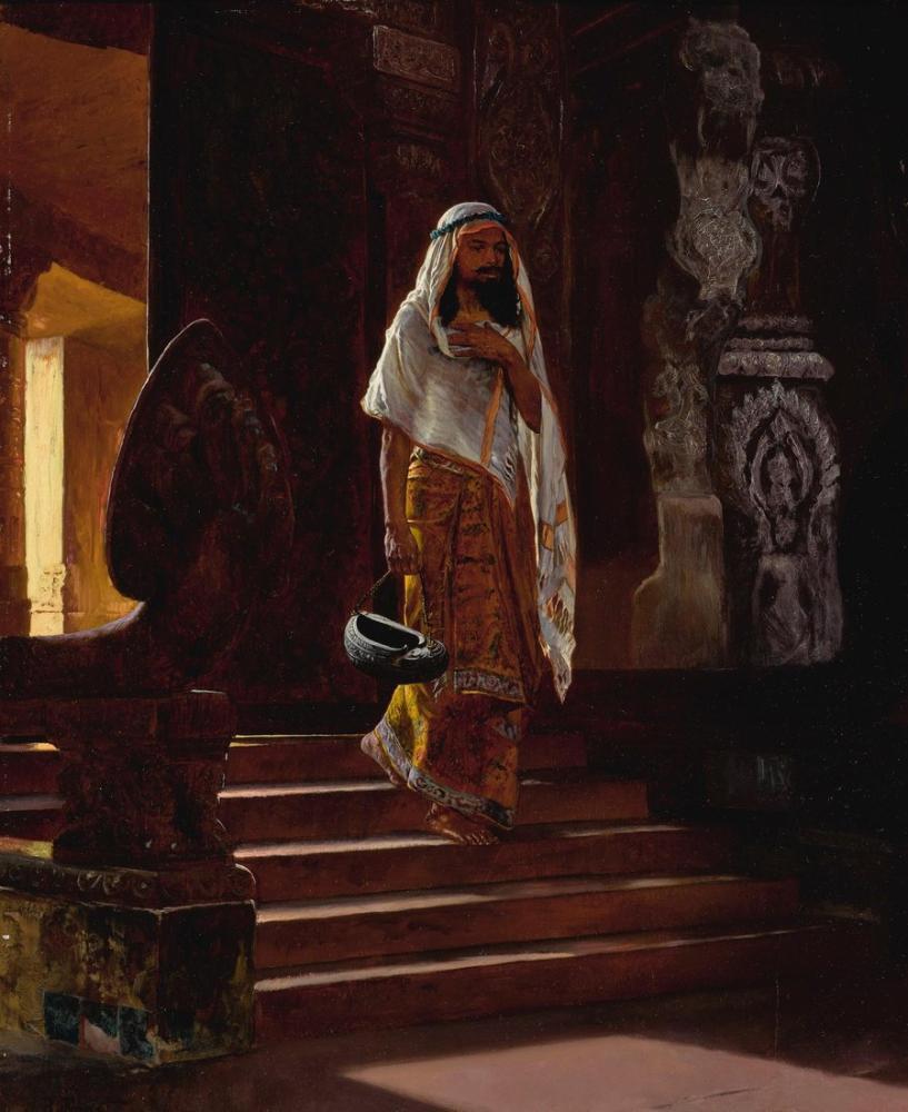 Rudolf Ernst Entering The Temple, Orientalism, Rudolf Ernst