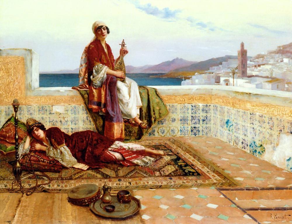 Rudolf Ernst Ladies Tangiers, Orientalism, Rudolf Ernst, kanvas tablo, canvas print sales