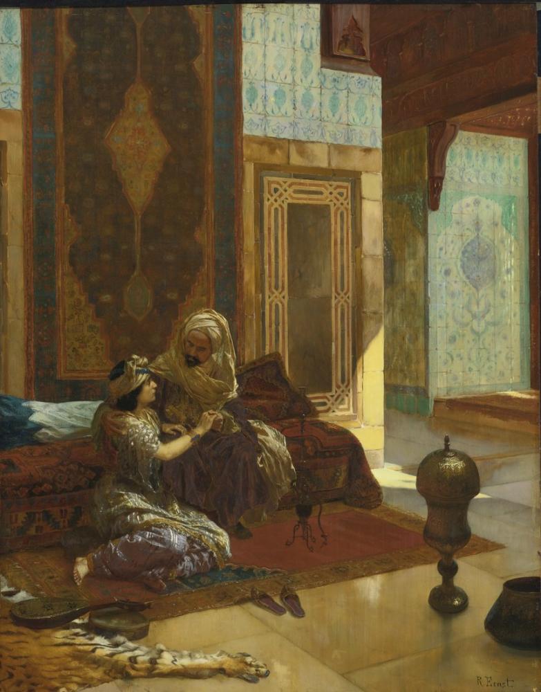 Rudolf Ernst La Favorite, Orientalism, Rudolf Ernst, kanvas tablo, canvas print sales
