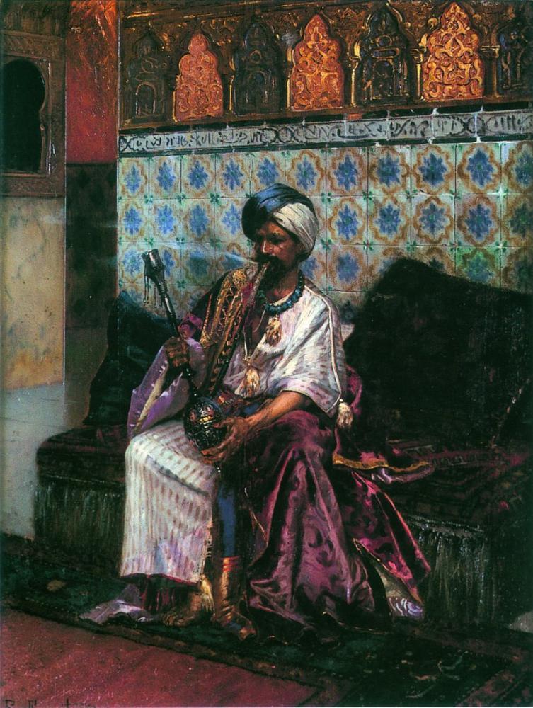 Rudolf Ernst Le Fumeur De Narghile, Orientalism, Rudolf Ernst