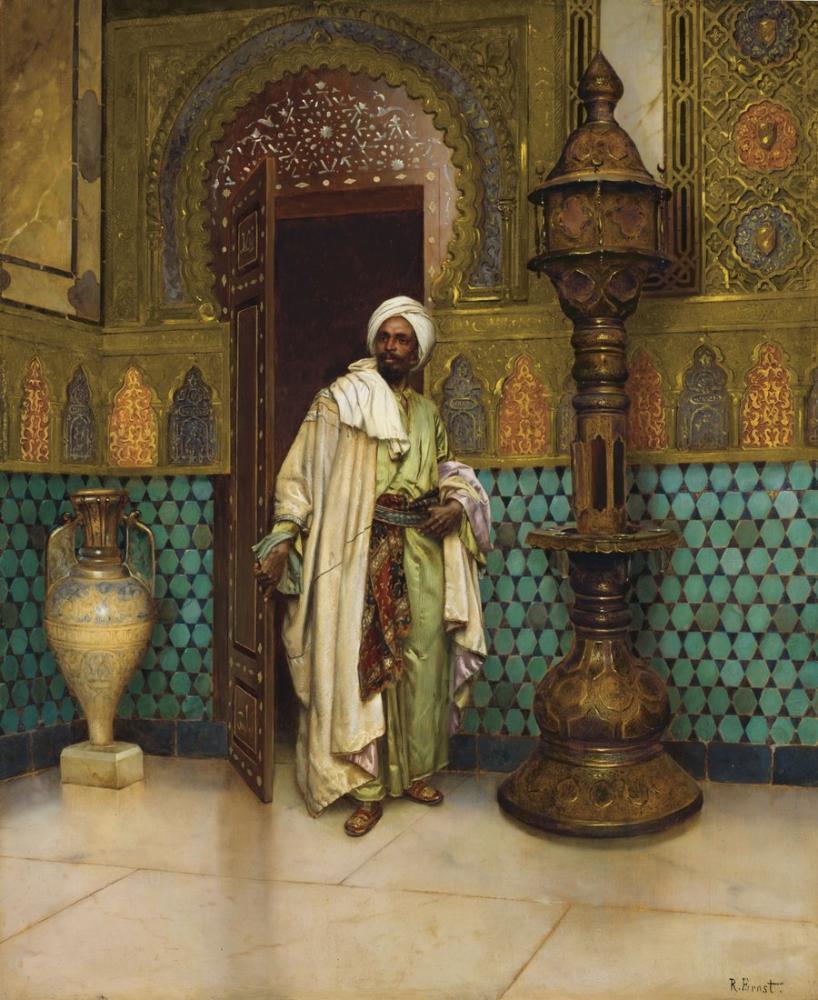 Rudolf Ernst An Arab In A Palace Interior, Orientalism, Rudolf Ernst