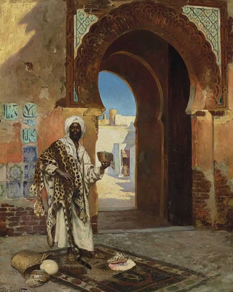 Rudolf Ernst Kabuk Tüccarı, Oryantalizm, Rudolf Ernst, kanvas tablo, canvas print sales