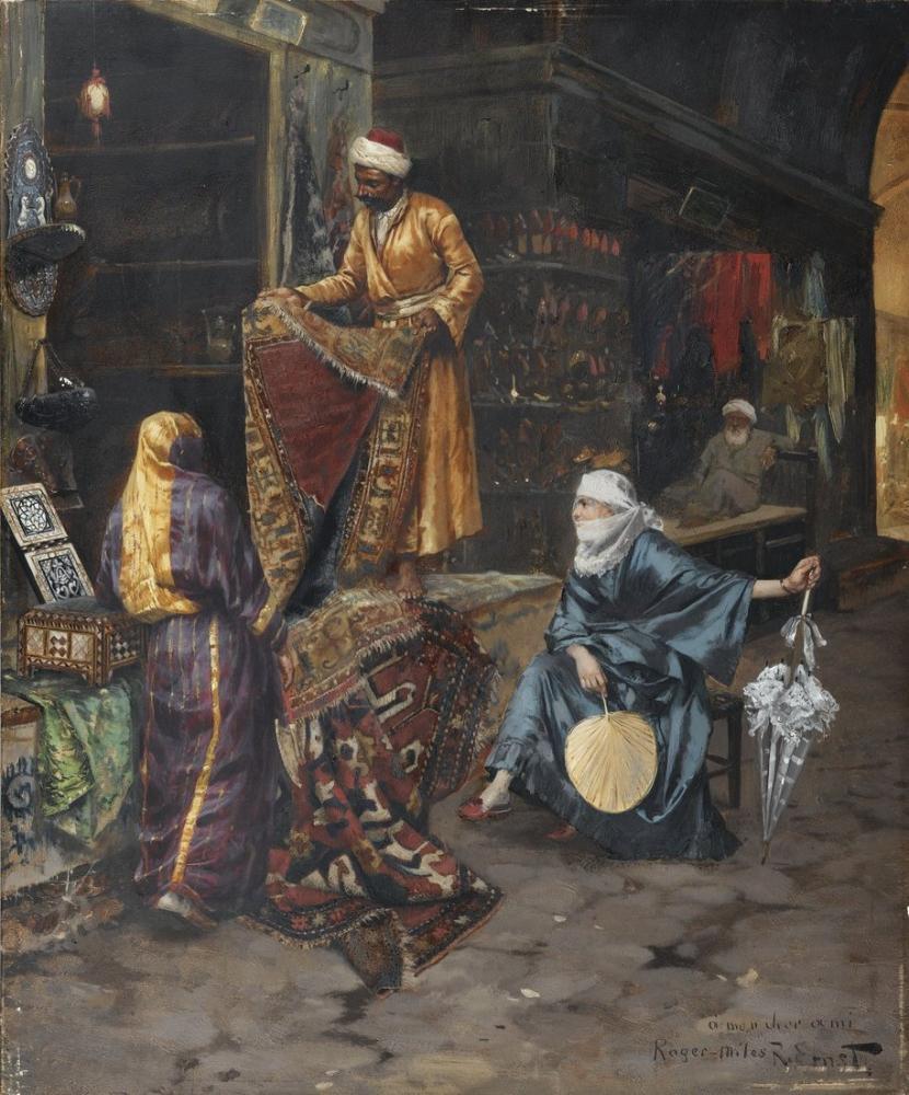 Rudolf Ernst Tüccar, Oryantalizm, Rudolf Ernst, kanvas tablo, canvas print sales