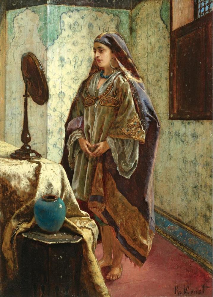 Rudolf Ernst Cariye Özel Odasında, Oryantalizm, Rudolf Ernst, kanvas tablo, canvas print sales