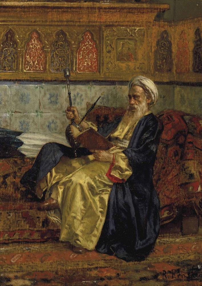 Rudolf Ernst An Arab Scholar, Orientalism, Rudolf Ernst, kanvas tablo, canvas print sales