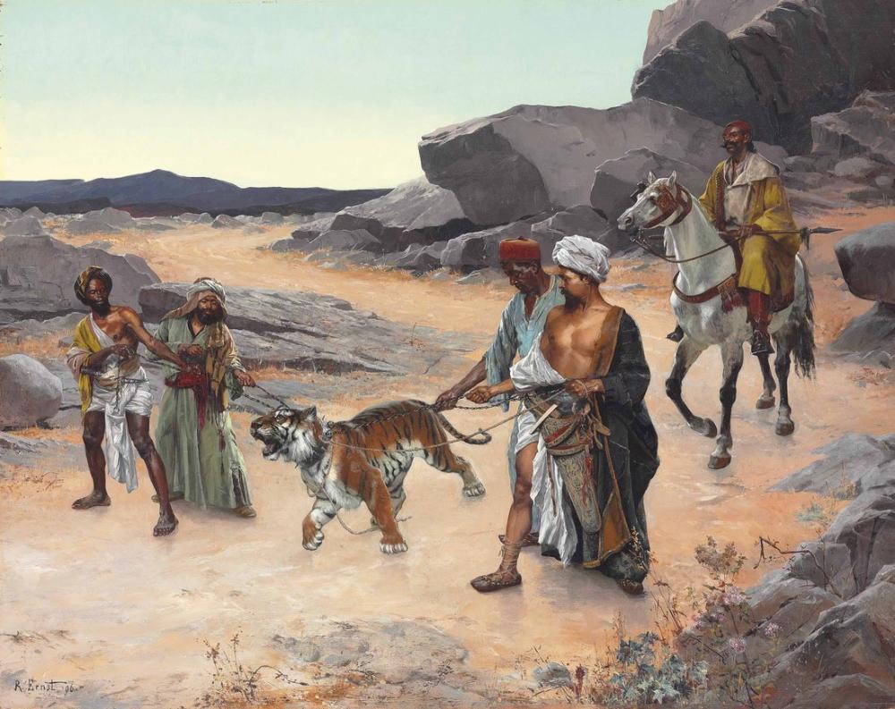 Rudolf Ernst Kaplan Avından Dönüş, Oryantalizm, Rudolf Ernst, kanvas tablo, canvas print sales