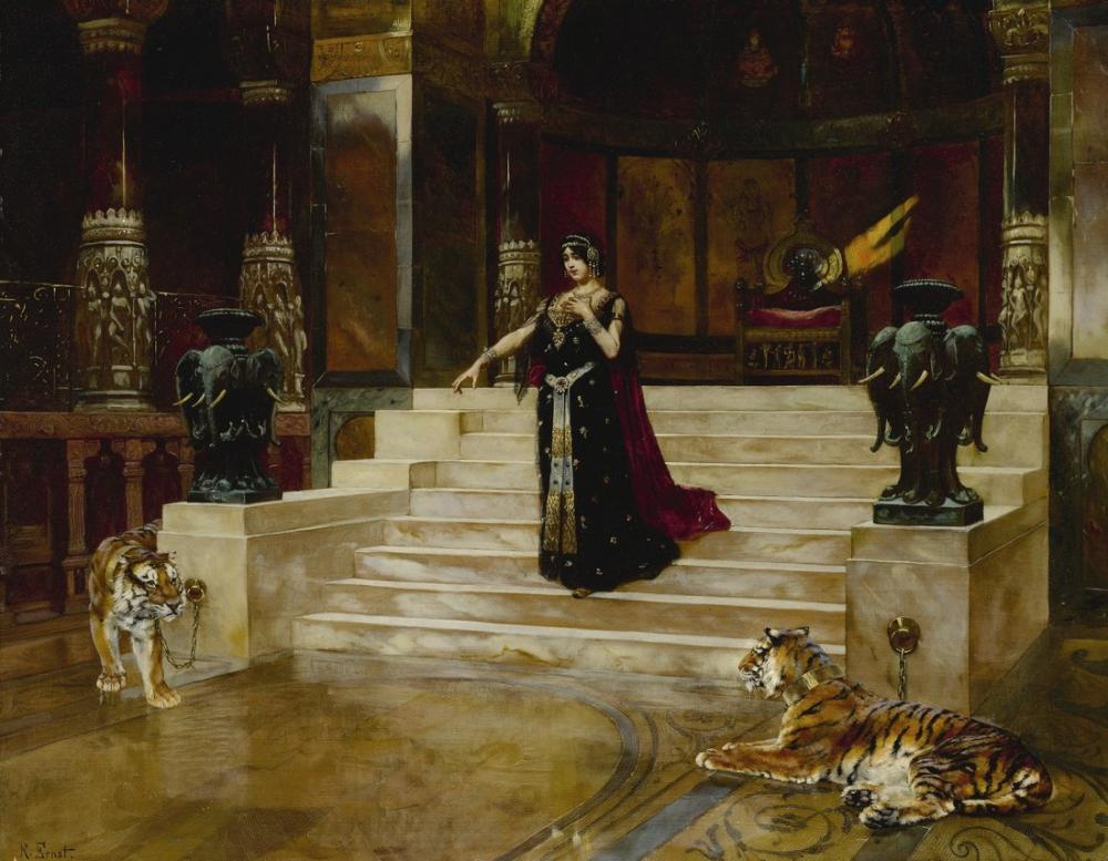 Rudolf Ernst Salome Ve Kaplanlar, Oryantalizm, Rudolf Ernst, kanvas tablo, canvas print sales