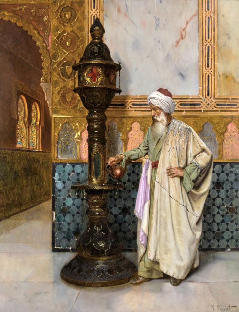 Rudolf Ernst Tending The Lamp, Orientalism, Rudolf Ernst, kanvas tablo, canvas print sales
