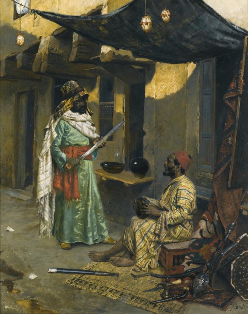 Rudolf Ernst The Arms Merchant, Orientalism, Rudolf Ernst, kanvas tablo, canvas print sales