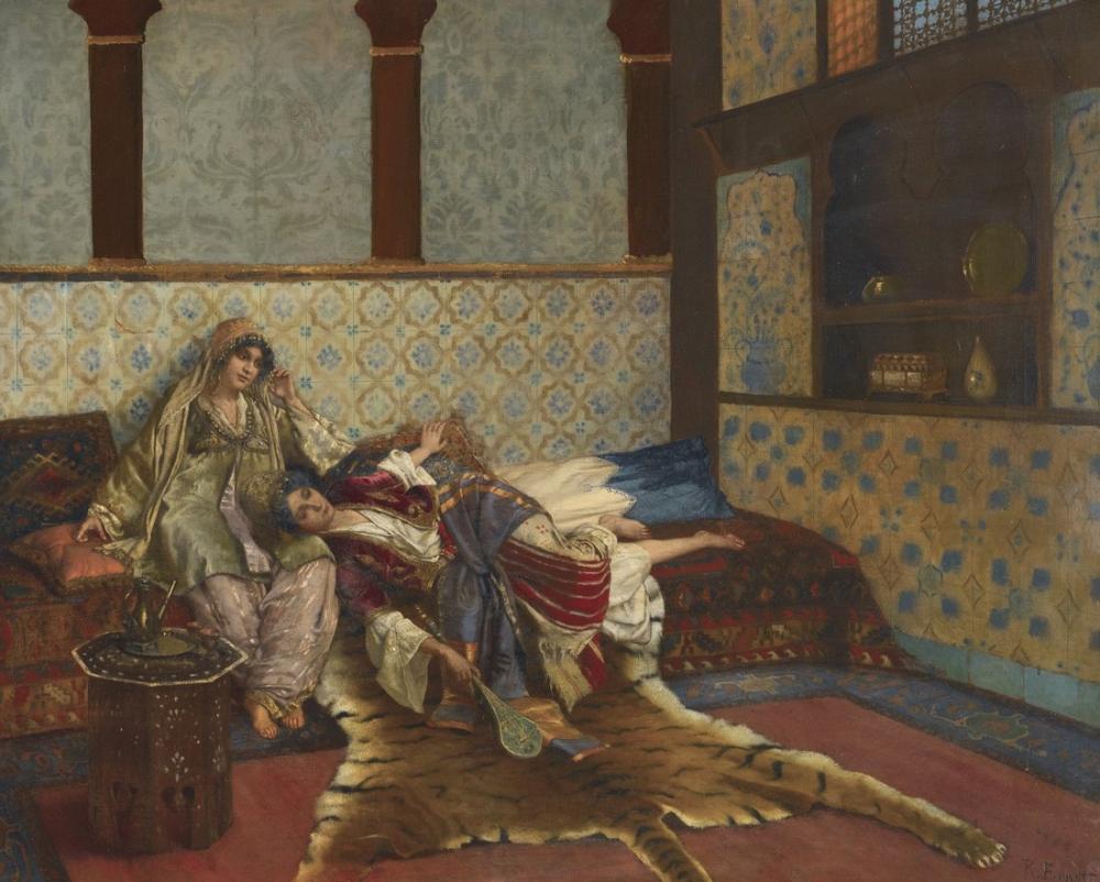 Rudolf Ernst The Forgotten Melody, Orientalism, Rudolf Ernst, kanvas tablo, canvas print sales