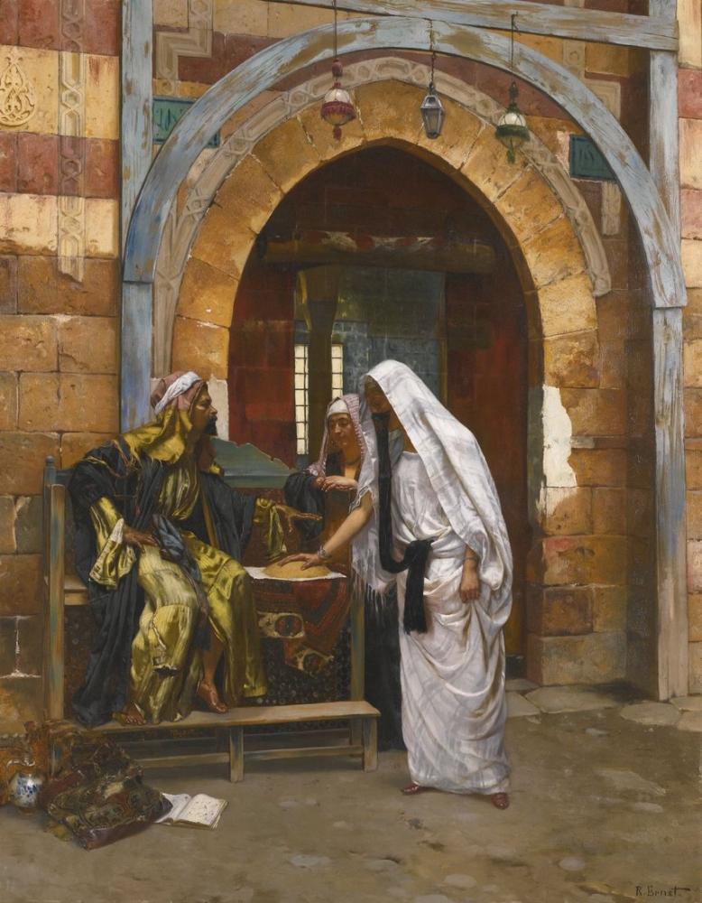 Rudolf Ernst The Fortuneteller, Orientalism, Rudolf Ernst, kanvas tablo, canvas print sales