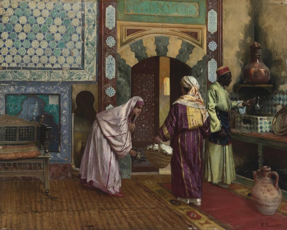 Rudolf Ernst Hamam, Oryantalizm, Rudolf Ernst, kanvas tablo, canvas print sales