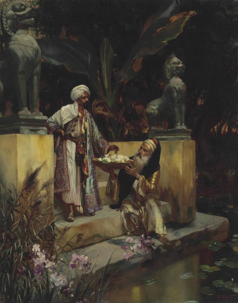Rudolf Ernst The Lotus Of The Sacred Lake, Orientalism, Rudolf Ernst, kanvas tablo, canvas print sales
