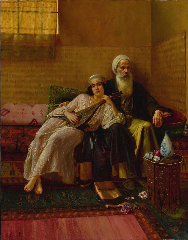 Rudolf Ernst Müzisyen, Oryantalizm, Rudolf Ernst, kanvas tablo, canvas print sales