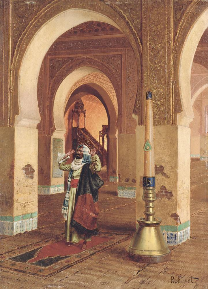 Rudolf Ernst The Prayer, Orientalism, Rudolf Ernst, kanvas tablo, canvas print sales