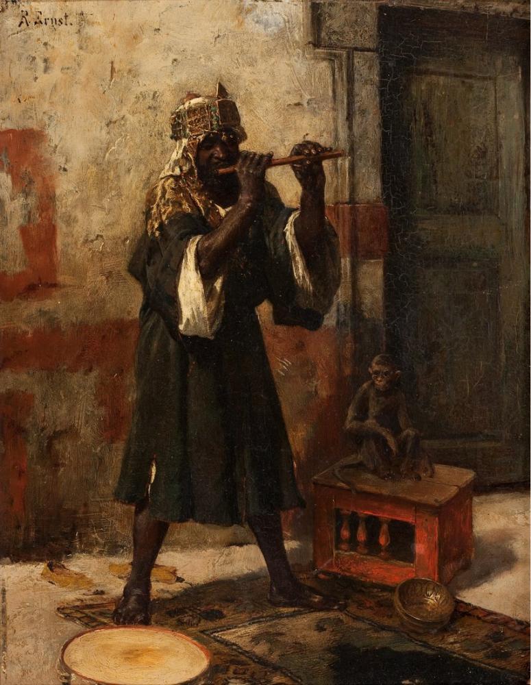 Rudolf Ernst The Snake Charmer, Orientalism, Rudolf Ernst, kanvas tablo, canvas print sales