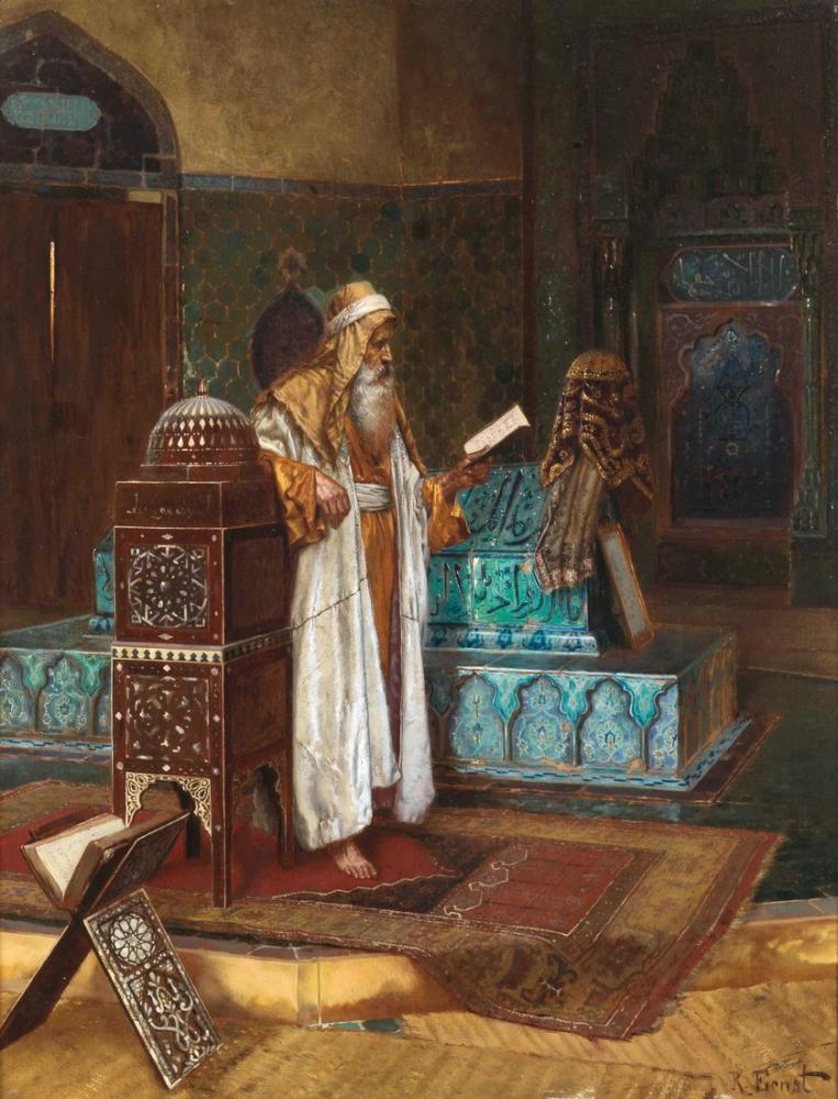 Rudolf Ernst The Tomb Of Sultan Mehmed I, Orientalism, Rudolf Ernst, kanvas tablo, canvas print sales