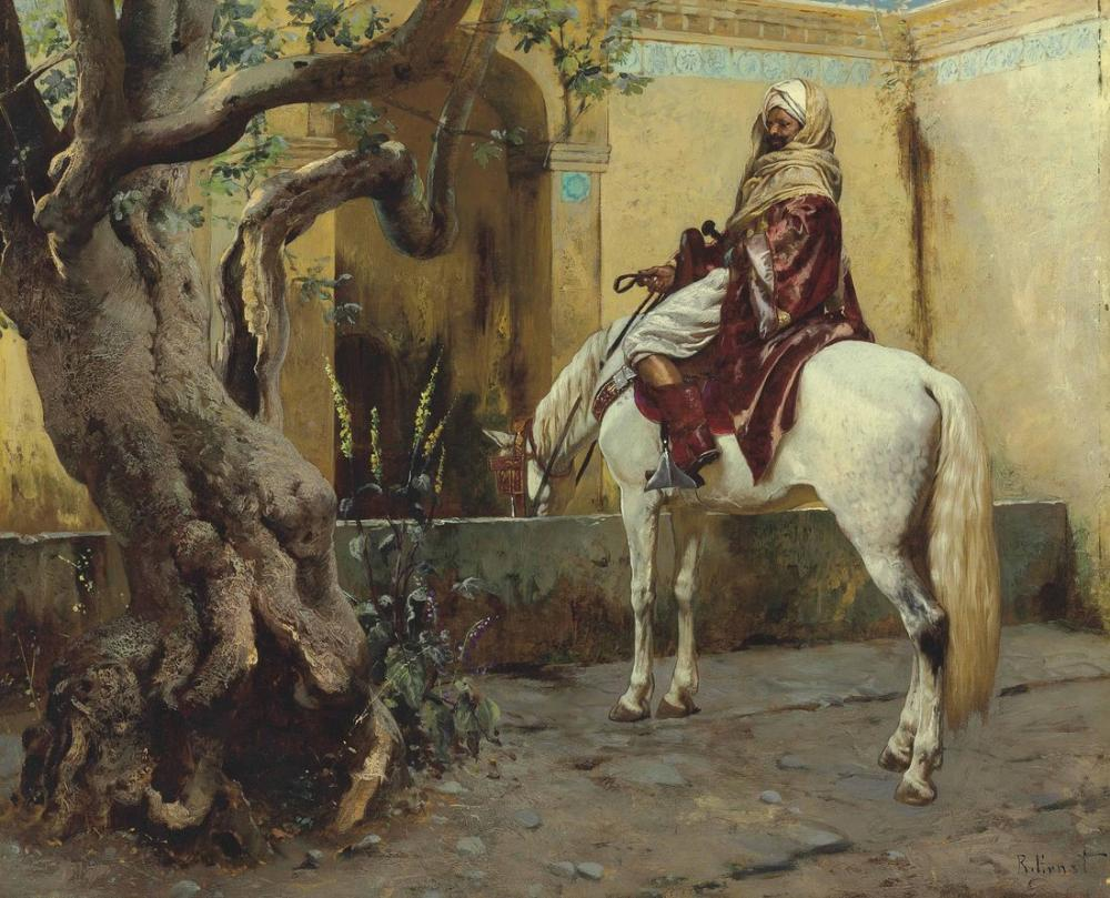 Rudolf Ernst The Watering Hole, Orientalism, Rudolf Ernst, kanvas tablo, canvas print sales