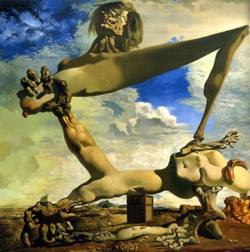 Salvador Dali Soft Construction with Boiled Beans (Premonition of Civil), Canvas, Salvador Dali, kanvas tablo, canvas print sales