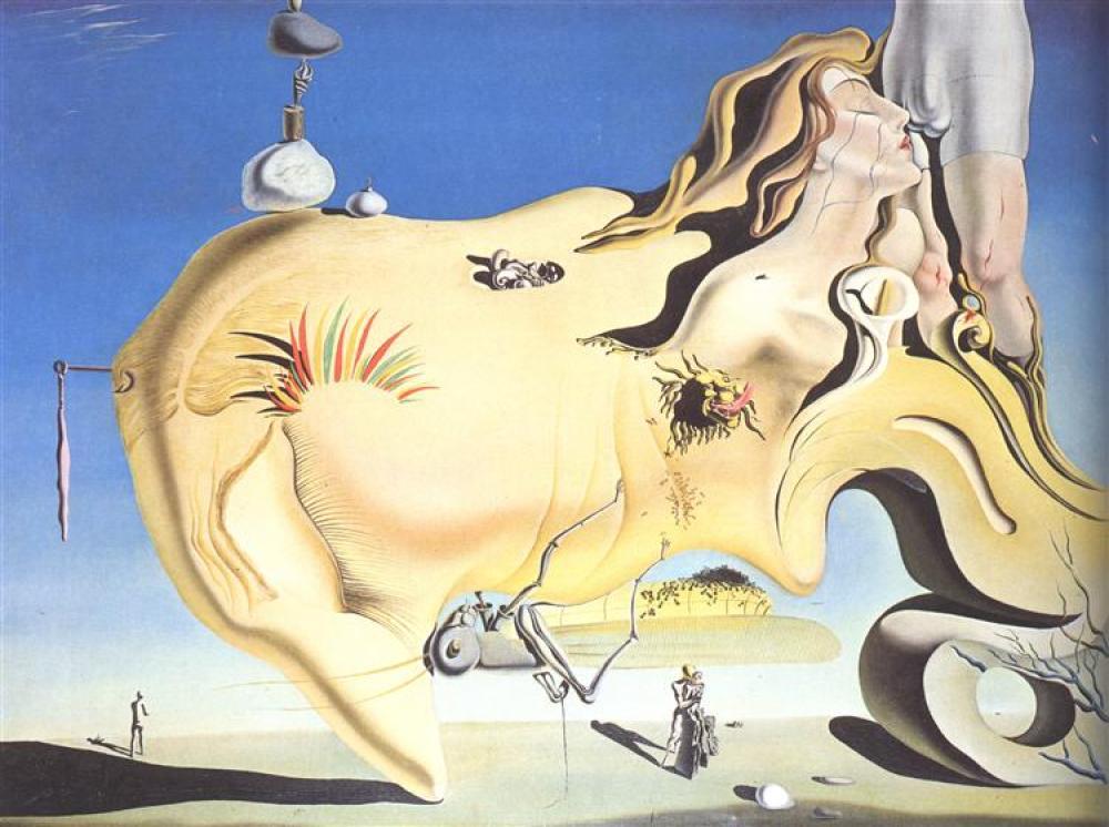 Salvador Dali Büyük Mastürbatör, Kanvas Tablo, Salvador Dali, kanvas tablo, canvas print sales