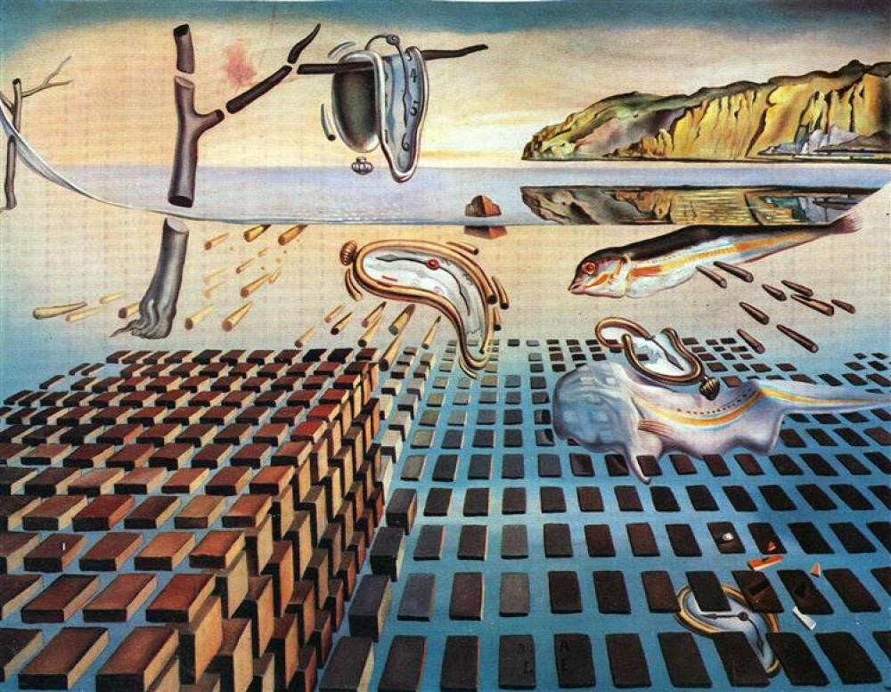 Salvador Dali Belleğin Azminin Parçalanması, Kanvas Tablo, Salvador Dali, kanvas tablo, canvas print sales