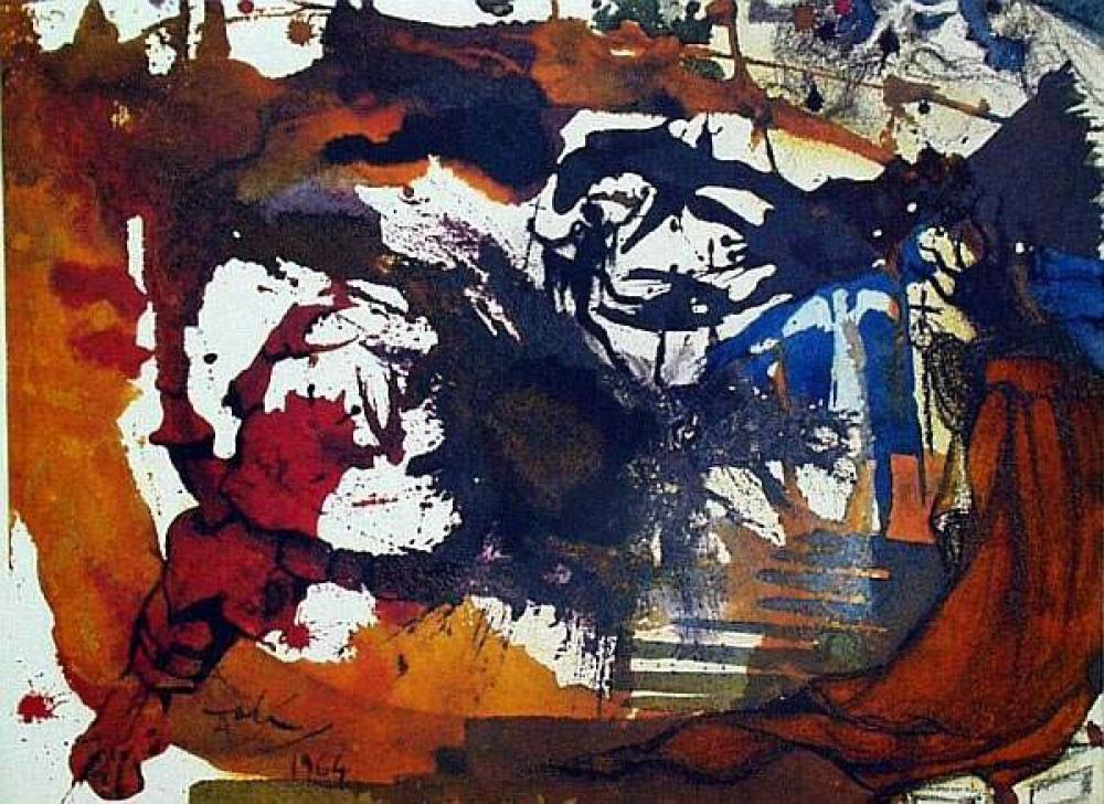 Salvador Dali Vinea Electa (Isaiah 5:6), Kanvas Tablo, Salvador Dali, kanvas tablo, canvas print sales
