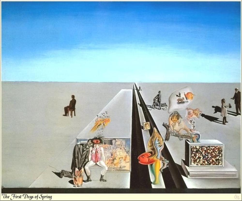 Salvador Dali Baharın İlk Günleri, Figür, Salvador Dali, kanvas tablo, canvas print sales