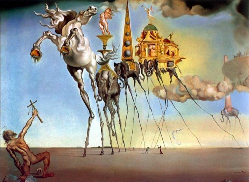 Salvador Dali The Temptation of St. Anthony, Canvas, Salvador Dali