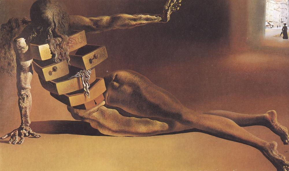 Salvador Dali İnsan Biçiminde Dolap, Kanvas Tablo, Salvador Dali, kanvas tablo, canvas print sales