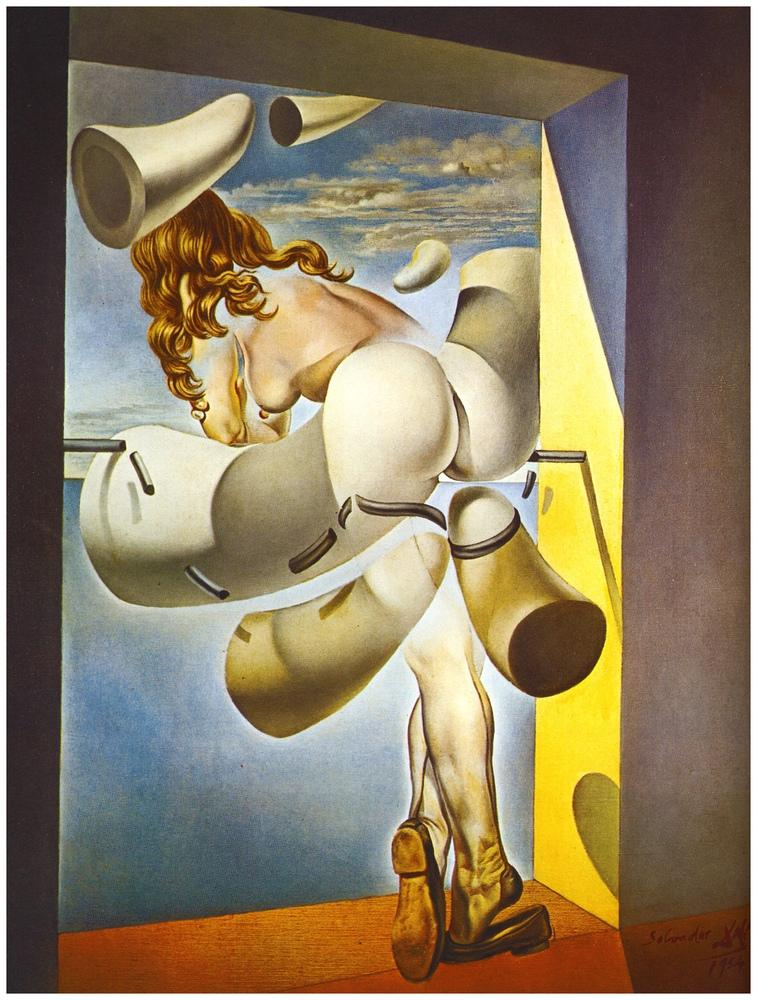Salvador Dali Young Virgin Auto-Sodomized by the Horns of Her Own Chastity, Figure, Salvador Dali, kanvas tablo, canvas print sales