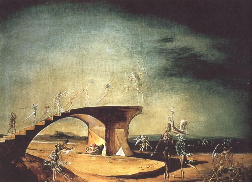 Salvador Dali Kırık Köprü ve Rüya, Figür, Salvador Dali, kanvas tablo, canvas print sales