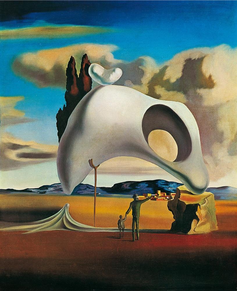 Salvador Dali Atavistic Vestiges After the Rain, Canvas, Salvador Dali