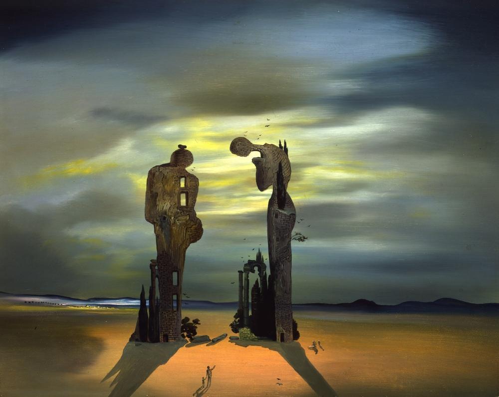 Salvador Dali Archeological Reminiscence of Millet's Angelus, Figure, Salvador Dali