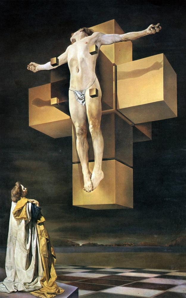 Salvador Dali Crucifixion (Corpus Hypercubus), Canvas, Salvador Dali