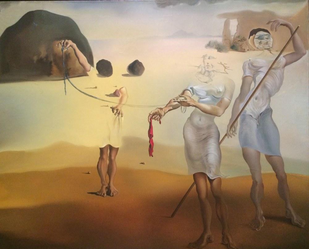 Salvador Dali Enchanted Beach with Three Fluid Graces, Canvas, Salvador Dali, kanvas tablo, canvas print sales