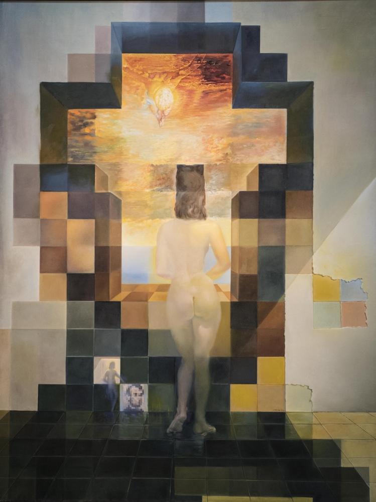 Salvador Dali Abraham Lincoln Portresi, Kanvas Tablo, Salvador Dali, kanvas tablo, canvas print sales