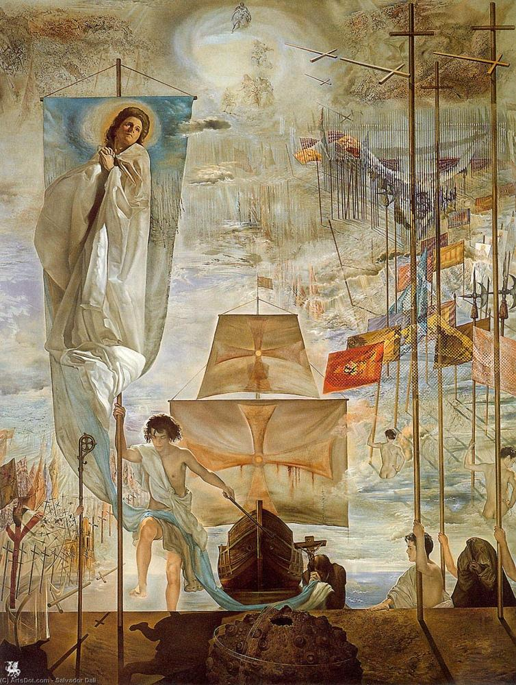 Salvador Dali The Discovery of America by Christopher Columbus, Canvas, Salvador Dali, kanvas tablo, canvas print sales