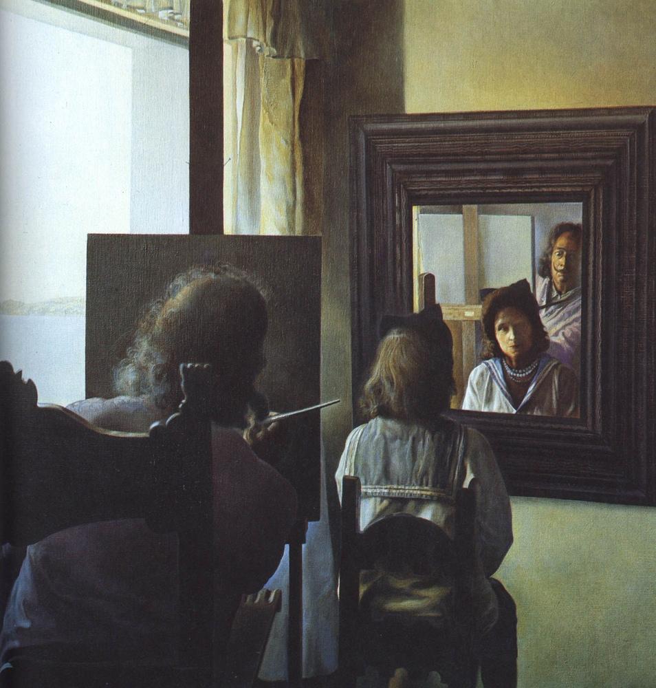 Six Virtual Corneas Provisionally Reflected by Six Real Mirrors, Kanvas Tablo, Salvador Dali, kanvas tablo, canvas print sales