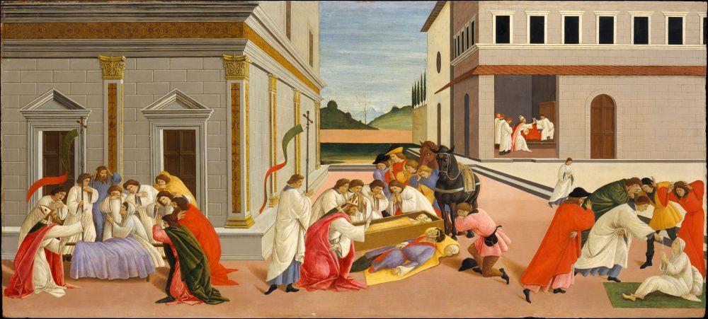 Sandro Botticelli, Zenobius ün Üç Mucizesi, Kanvas Tablo, Sandro Botticelli, kanvas tablo, canvas print sales