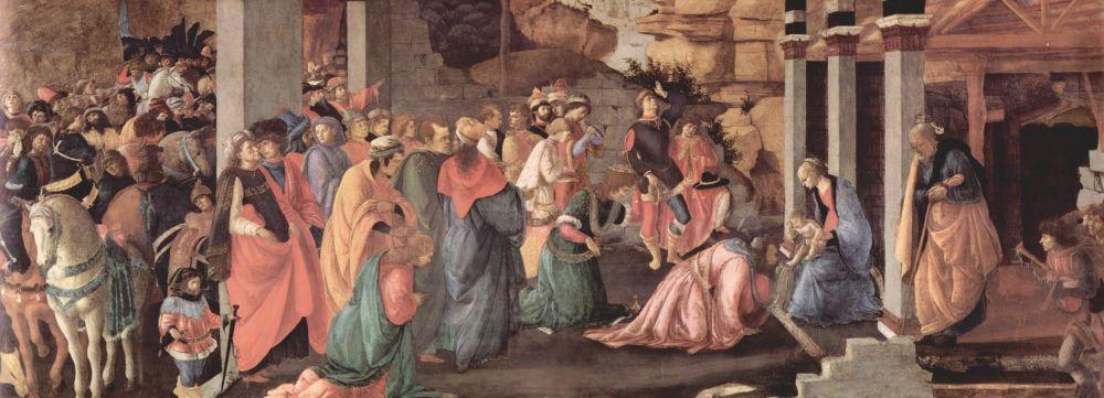 Sandro Botticelli, Adoration of The King, Kanvas Tablo, Sandro Botticelli, kanvas tablo, canvas print sales
