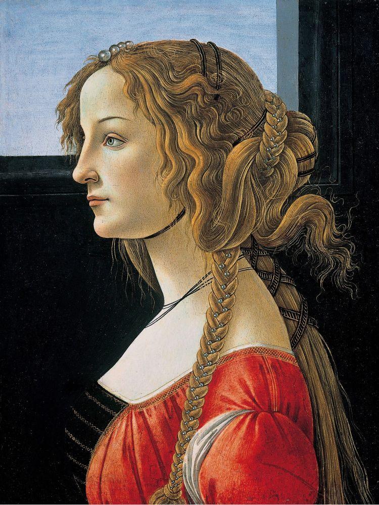 Sandro Botticelli, Bir Kadın Portresi, Kanvas Tablo, Sandro Botticelli, kanvas tablo, canvas print sales