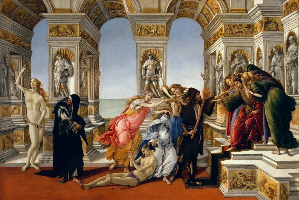 Sandro Botticelli, Calumny of Appelles, Canvas, Sandro Botticelli, kanvas tablo, canvas print sales