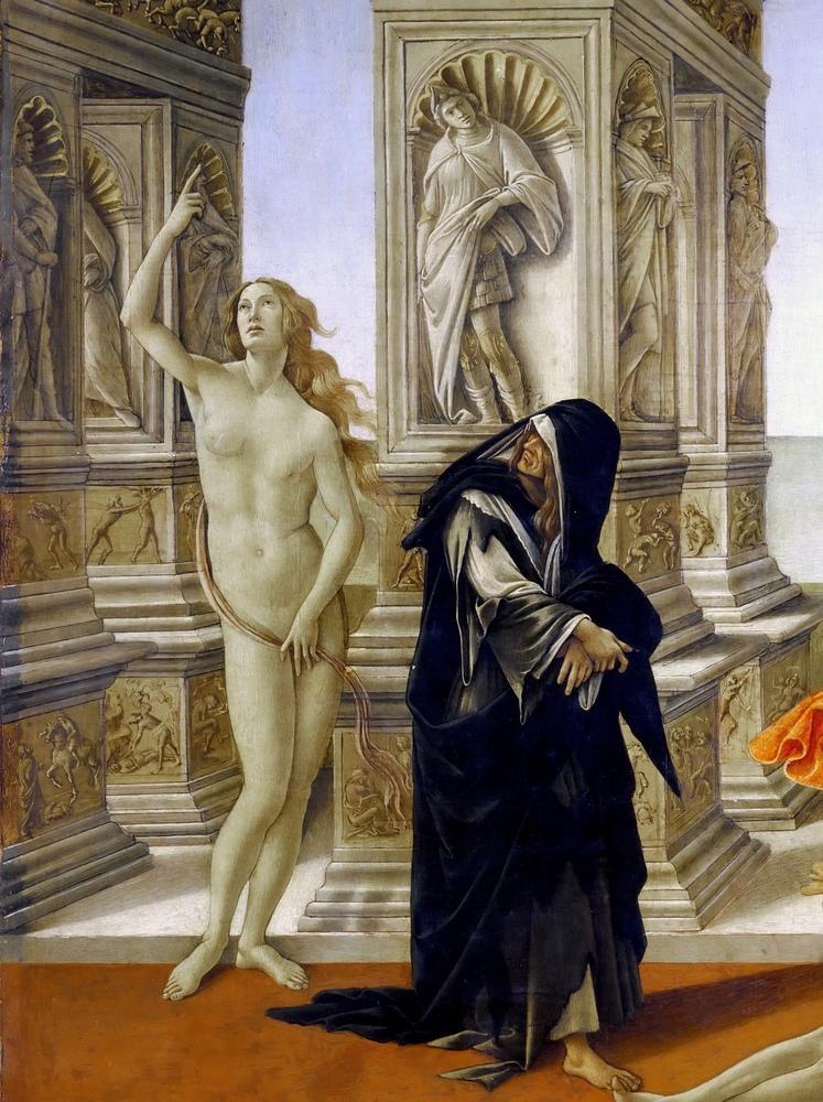 Sandro Botticelli, Calumny of Appelles, Venus, God of Truth, Canvas, Sandro Botticelli, kanvas tablo, canvas print sales