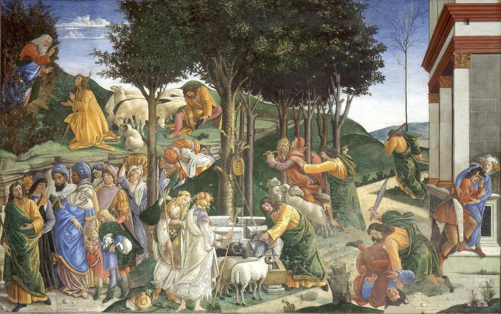Sandro Botticelli, Musa nın Yaşamındaki Olaylar, Kanvas Tablo, Sandro Botticelli, kanvas tablo, canvas print sales