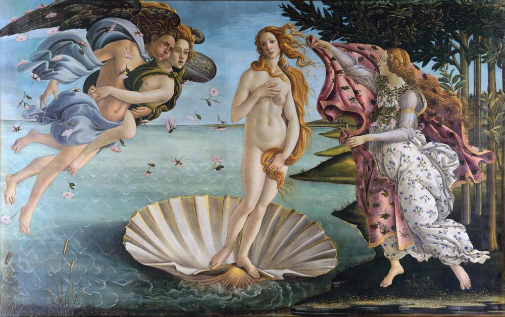Sandro Botticelli, Venüs ün Doğumu, Kanvas Tablo, Sandro Botticelli, kanvas tablo, canvas print sales