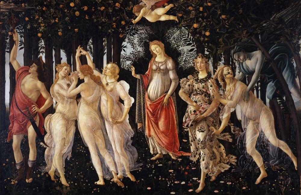 Sandro Botticelli, İlkbahar (Primavera), Kanvas Tablo, Sandro Botticelli, kanvas tablo, canvas print sales