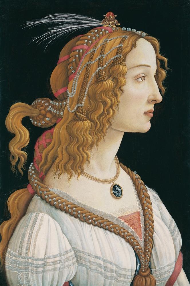 Sandro Botticelli, Genç Bir Kadının Portresi, Kanvas Tablo, Sandro Botticelli, kanvas tablo, canvas print sales