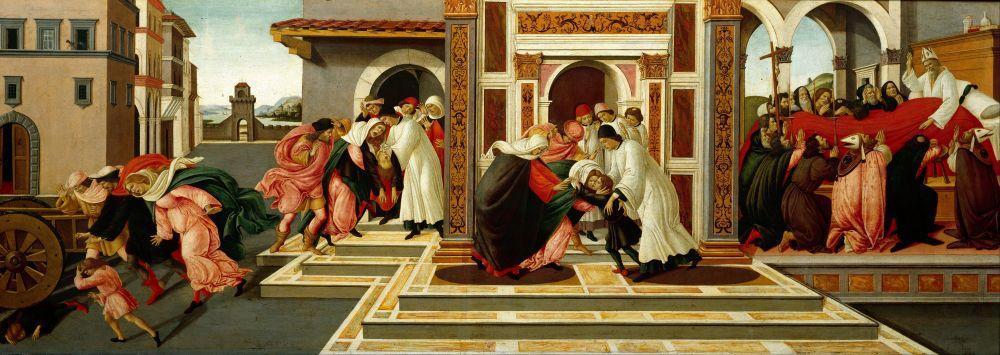 Sandro Botticelli, Son Mucize ve St. Zenobius un Ölümü, Kanvas Tablo, Sandro Botticelli, kanvas tablo, canvas print sales