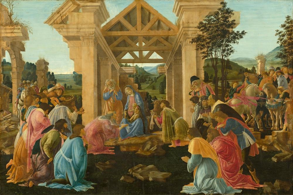 Sandro Botticelli, Magi nin Hayranlığı, Kanvas Tablo, Sandro Botticelli, kanvas tablo, canvas print sales